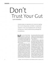don't trust your gut_bonabeau