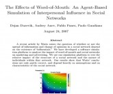 Effects of word-of-mouth an agent-based simulation_wom research symposium